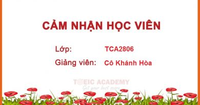 Cảm nhận của học viên lớp TCA2806 – Cô Khánh Hòa