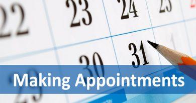 Từ vựng TOEIC Part 3: Sắp xếp lịch làm việc