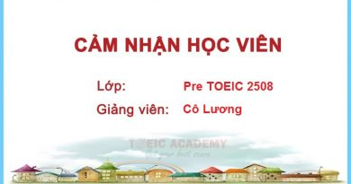 Cảm nhận học viên lớp Pre TOEIC 2508 – Cô Lương