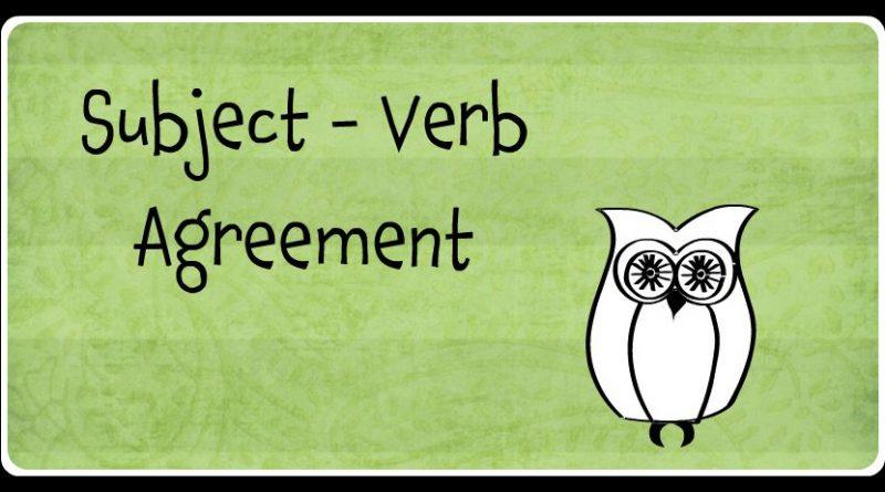GrammarSubjectVerbAgreement