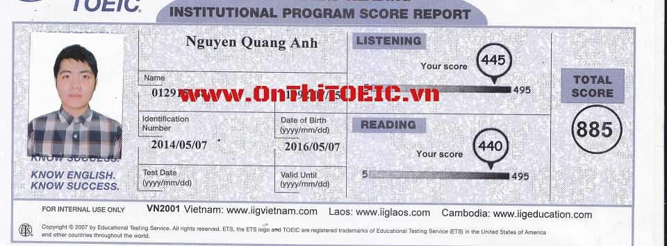 885 Nguyen Quang Anh 885